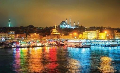 Fototapet med motivet: Stad Turkiet Bosphorus Multicolour