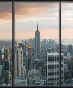 Fototapet med motivet: Staden New York Skyline Empire State