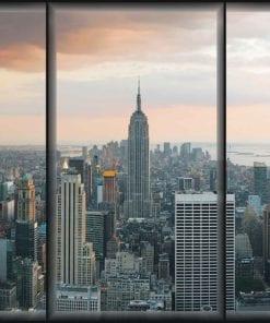 Fototapet med motivet: Staden New York Skyline Empire State