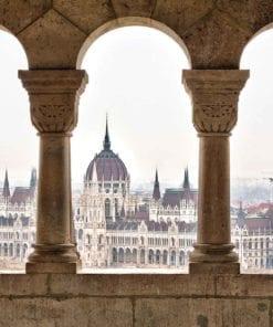 Fototapet med motivet: Stadshorisont Budapest