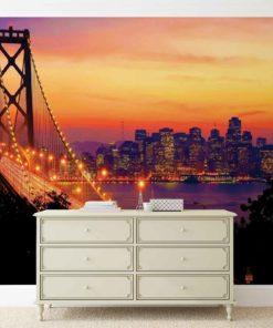 Fototapet med motivet: Stadshorisont Golden Gate-bron