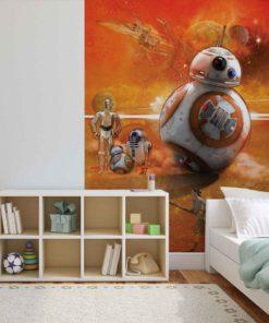 Fototapet med motivet: Star Wars Force Väcker BB8