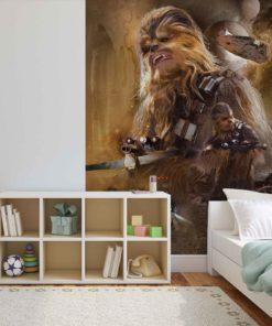Fototapet med motivet: Star Wars Force Väcker Chewbacca