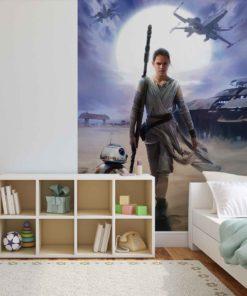 Fototapet med motivet: Star Wars Force Väcker Rey