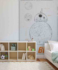 Fototapet med motivet: Star Wars VII Astro Droid BB-8