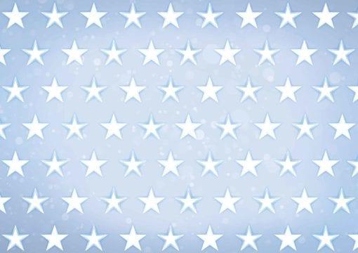 Fototapet med motivet: Stjärnor Mönster Blå