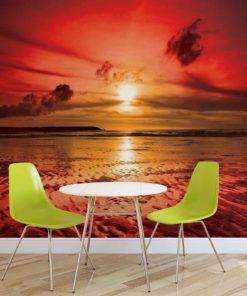Fototapet med motivet: Strand Solnedgång