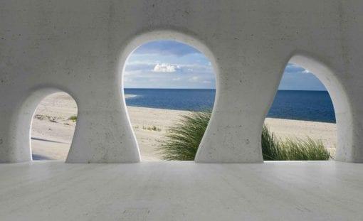Fototapet med motivet: Strand Utsikt Modern