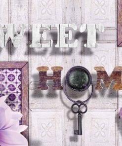 Fototapet med motivet: Sweet Hem Blommor Lila