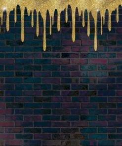 Fototapet med motivet: Tegelstens guldfärg