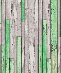 Fototapet med motivet: Trä plankor textur Grön Grå