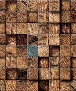 Fototapet med motivet: Träblock Textur Brun