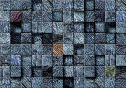 Fototapet med motivet: Träblock Textur Mörk Grå