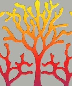 Fototapet med motivet: Träd Abstrakt Fiery