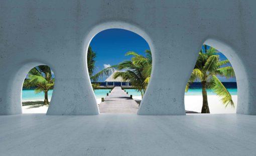 Fototapet med motivet: Tropisk Strand Utsikt Modern