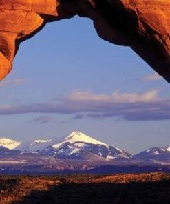 Fototapet med motivet: Utsikt Rock Berg Natur
