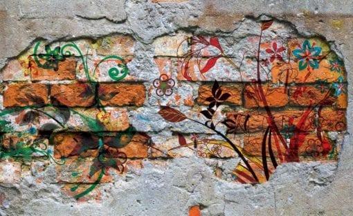 Fototapet med motivet: Vägg Graffiti Swot Art