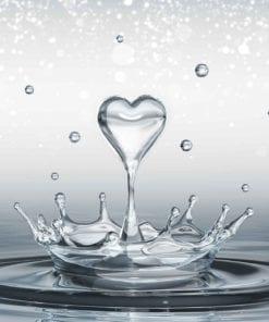 Fototapet med motivet: Vattendroppar Hjärta