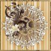 Fototapet med motivet: Vintage Mönster blommor Brun