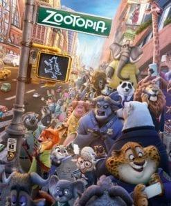 Fototapet med motivet: Walt Disney Zootropolis