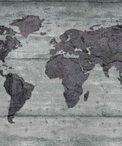 Fototapet med motivet: World Karta Betong Textur