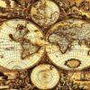 Fototapet med motivet: World Karta Vintage