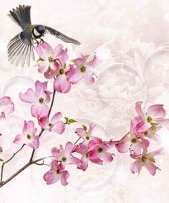 Fototapet med motivet: blommor Bird