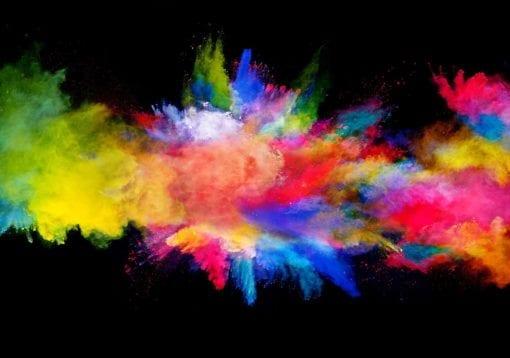 Fototapet med motivet: färg~~POS=TRUNC Explosion
