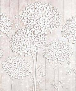 Fototapet med motivet: mönster blommor